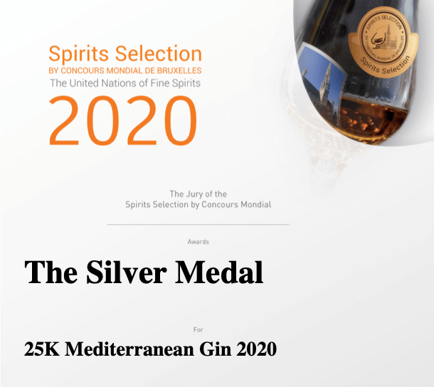 Spirits Selection Silver Medal for our 25K gin