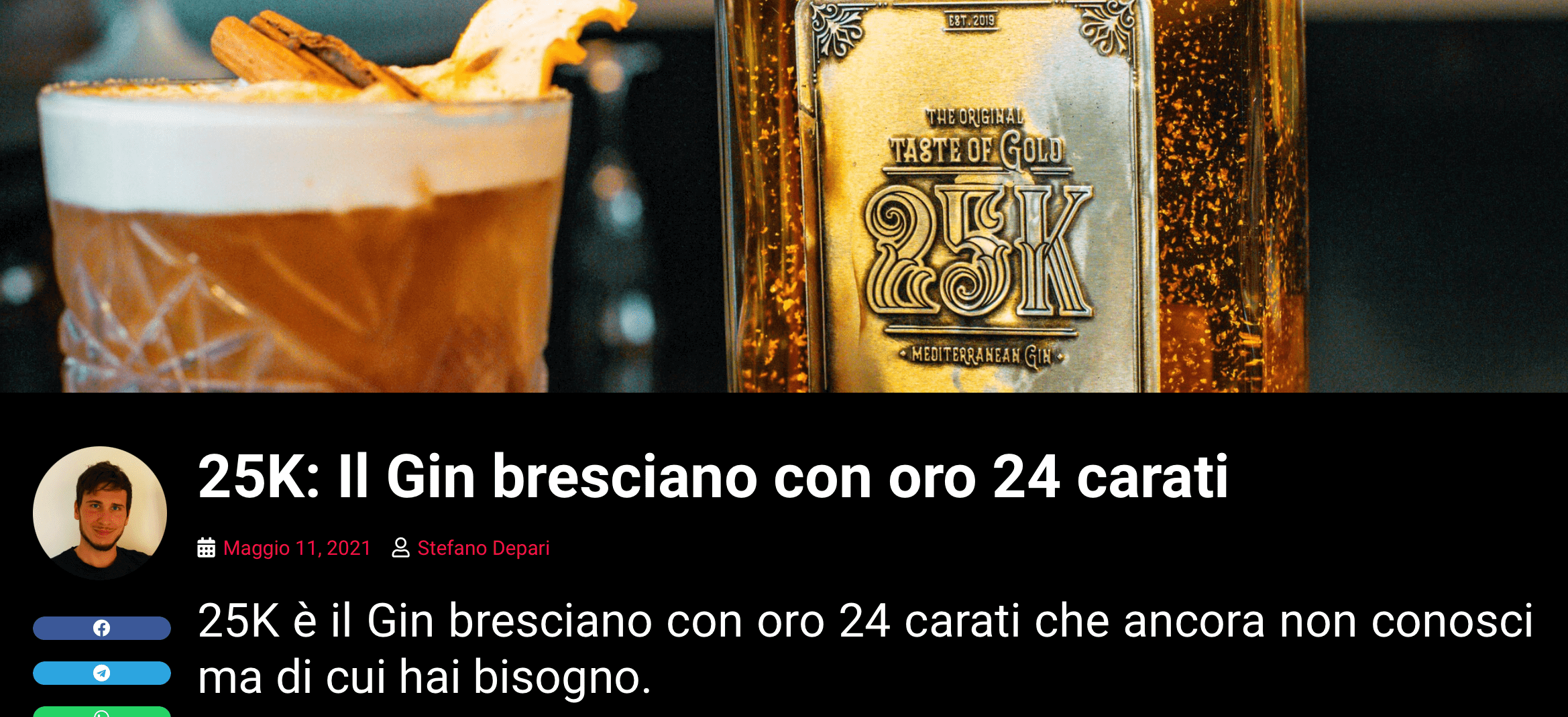 25K: Il Gin bresciano con oro 24 carati